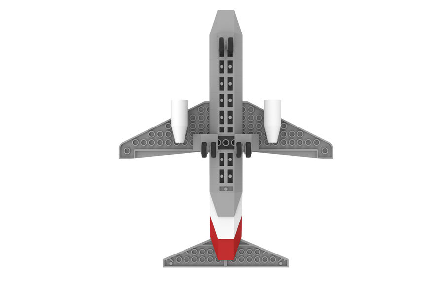 lego jet uçağı royalty-free 3d model - Preview no. 11