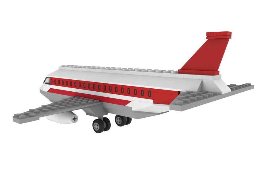 lego jet uçağı royalty-free 3d model - Preview no. 5