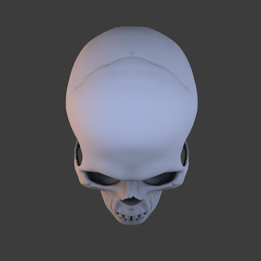 High Poly Skull royalty-free 3d model - Preview no. 8