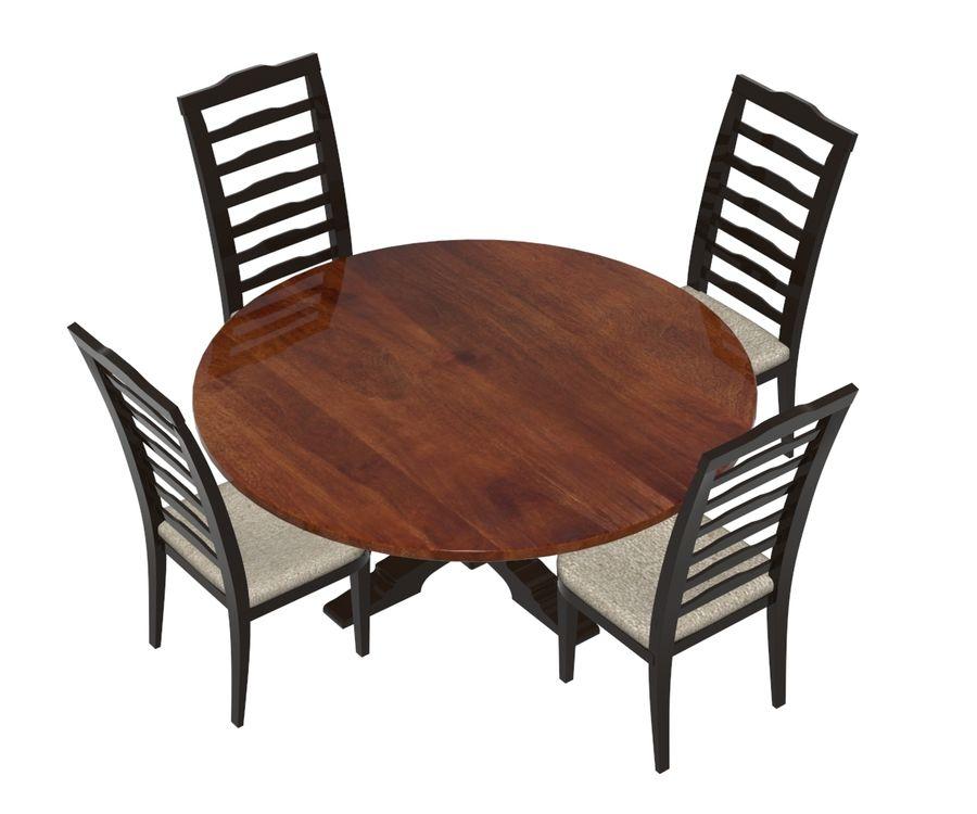 ダイニングテーブルと椅子 royalty-free 3d model - Preview no. 4