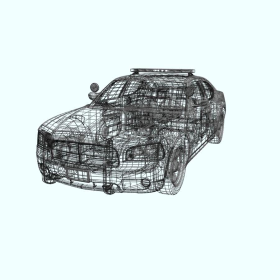 polisbil svart royalty-free 3d model - Preview no. 7