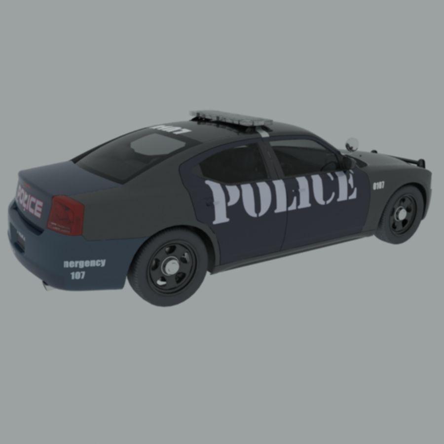 polisbil svart royalty-free 3d model - Preview no. 5