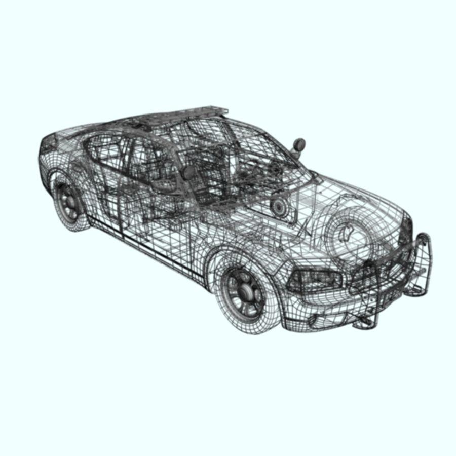 polisbil svart royalty-free 3d model - Preview no. 8