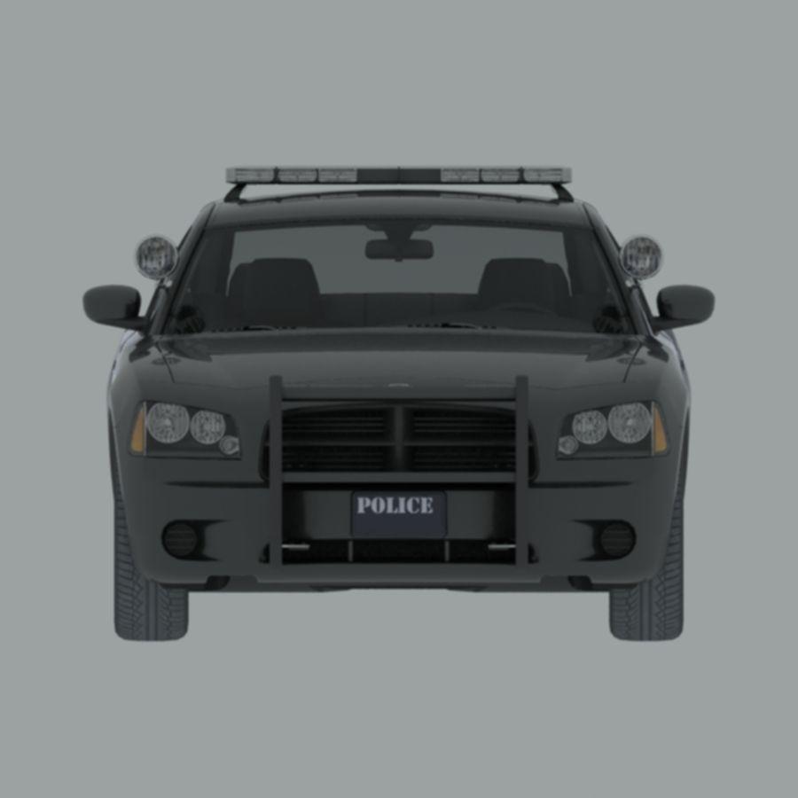 polisbil svart royalty-free 3d model - Preview no. 2