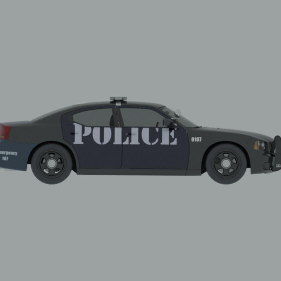 polisbil svart royalty-free 3d model - Preview no. 3