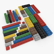 Lego Bricks Set 3d model