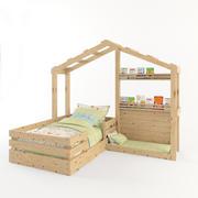 wooden-bed 3d model