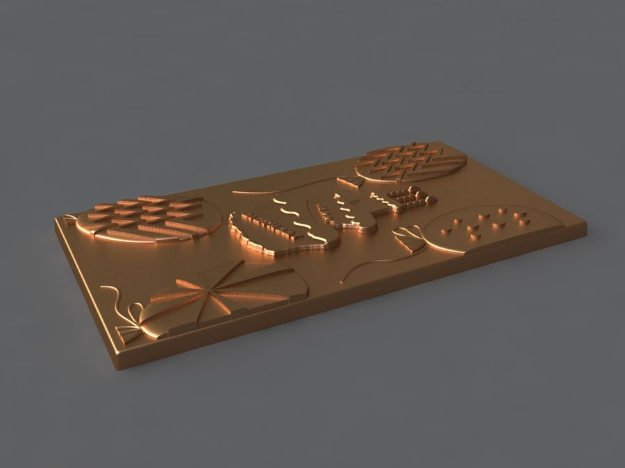 Happy Birthday royalty-free 3d model - Preview no. 8