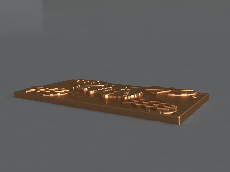 Happy Birthday royalty-free 3d model - Preview no. 7
