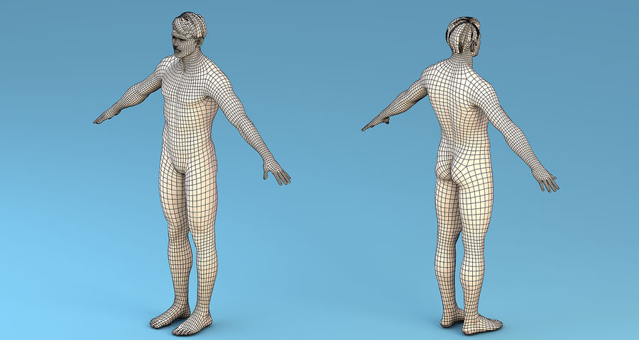基本角色男性 royalty-free 3d model - Preview no. 5