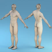 Base Character Male 3d model