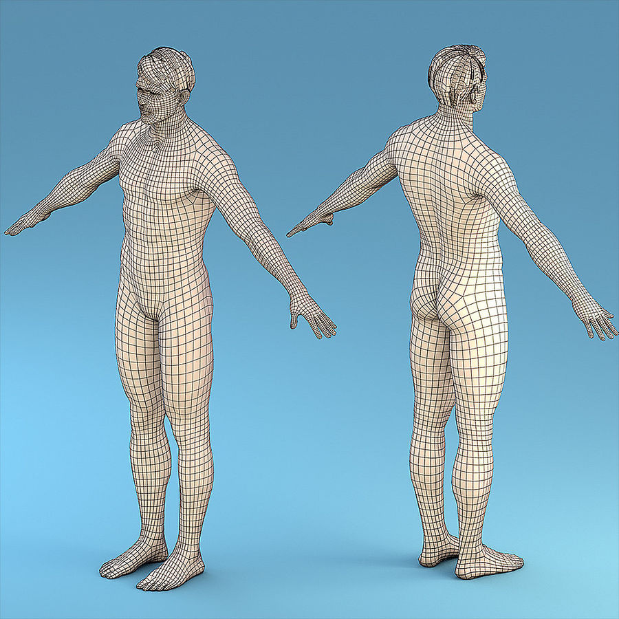 基本角色男性 royalty-free 3d model - Preview no. 1