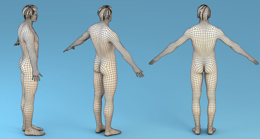 Personaggio Base Maschile royalty-free 3d model - Preview no. 7