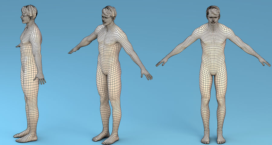 基本角色男性 royalty-free 3d model - Preview no. 6