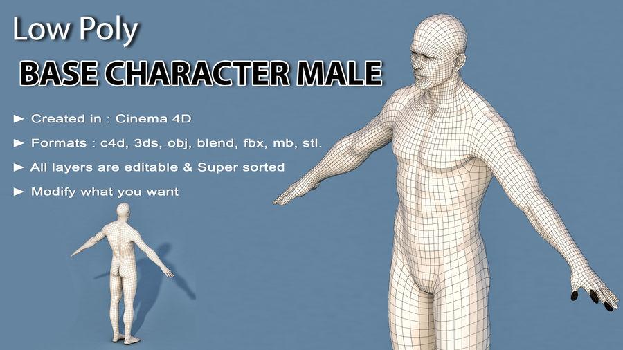 Personaggio Base Maschile royalty-free 3d model - Preview no. 2