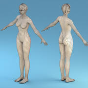 Base Character Female 3d model