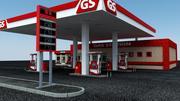Posto de gasolina 3d model