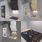 レトロなスタイルのkitchen房機器 3d model