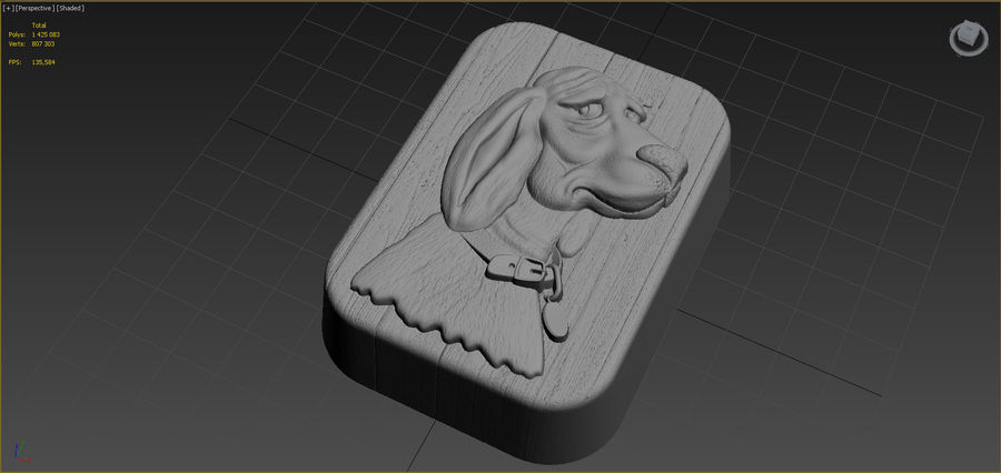 Dog royalty-free 3d model - Preview no. 7