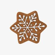 Lebkuchen-Schneeflocke 3d model