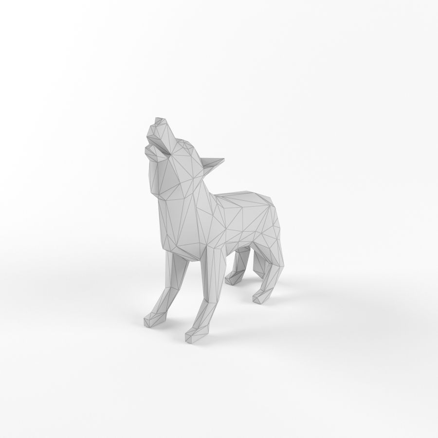 Low Poly Bear Wolf Boar Wild Mammal Animal Set Pack Lowpoly Low-poly 3D model royalty-free 3d model - Preview no. 3