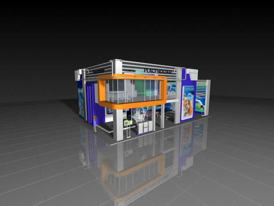 IT Expo 02 royalty-free 3d model - Preview no. 12
