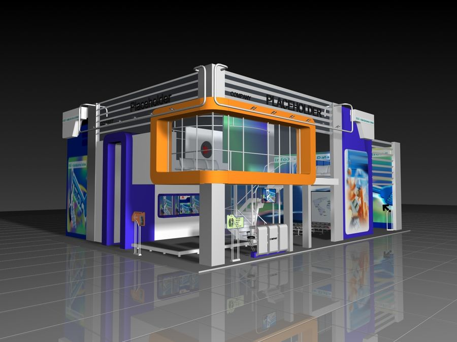 IT Expo 02 royalty-free 3d model - Preview no. 1