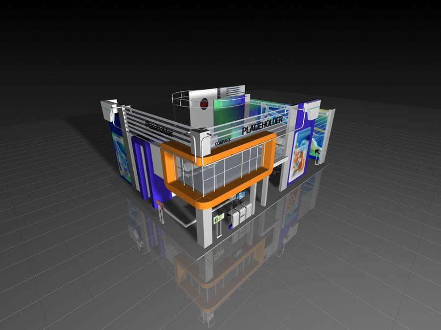 IT Expo 02 royalty-free 3d model - Preview no. 11