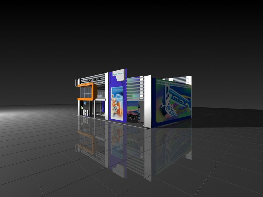 IT Expo 02 royalty-free 3d model - Preview no. 9