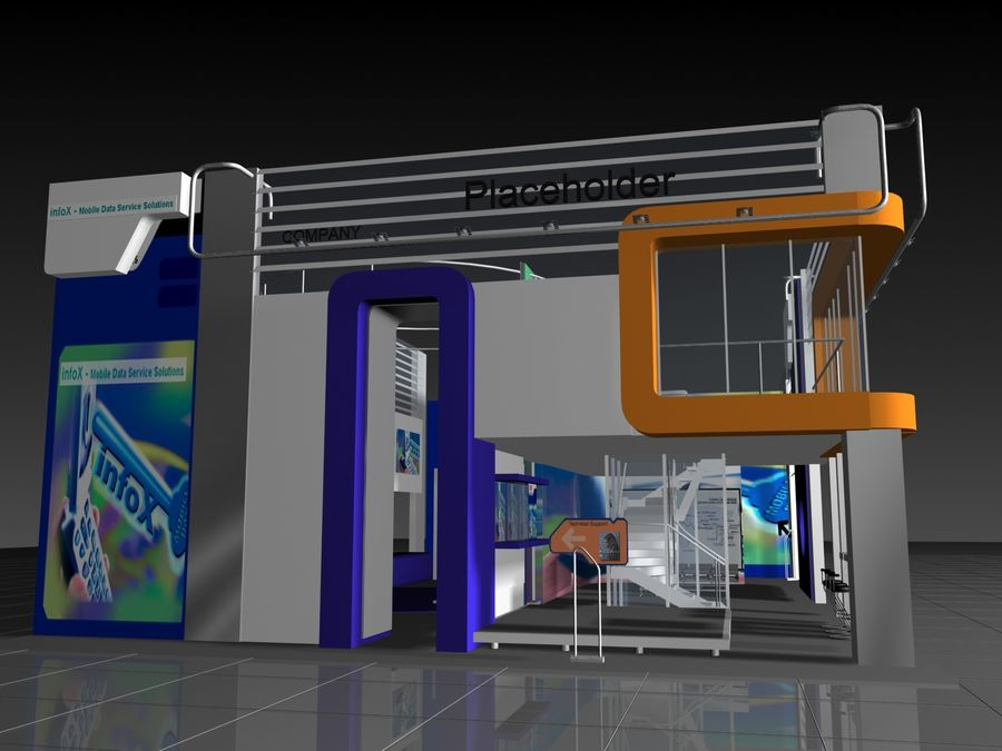 IT Expo 02 royalty-free 3d model - Preview no. 7