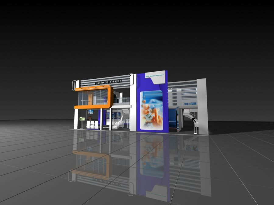 IT Expo 02 royalty-free 3d model - Preview no. 8