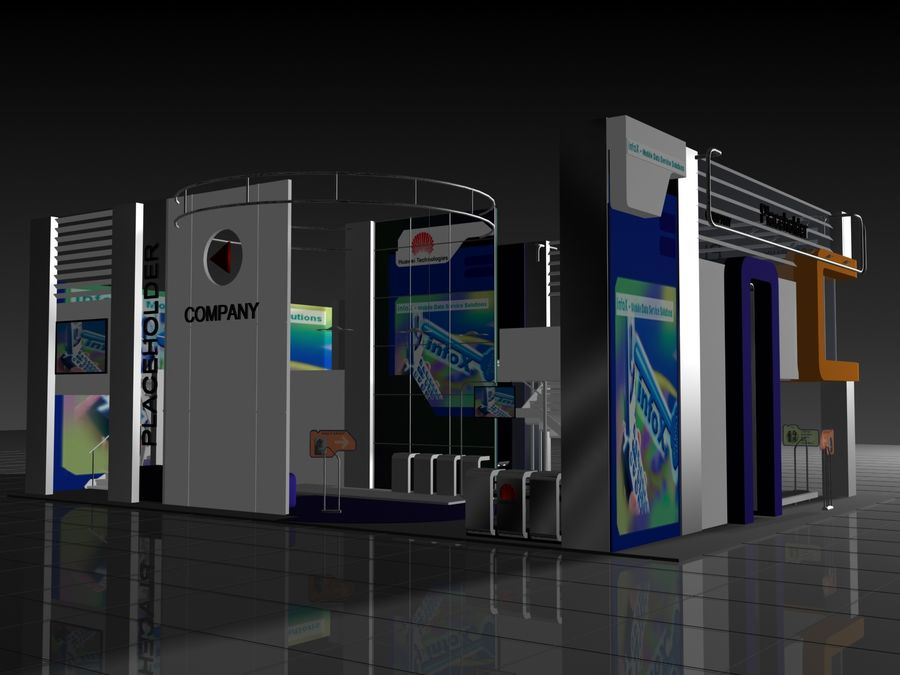 IT Expo 02 royalty-free 3d model - Preview no. 6