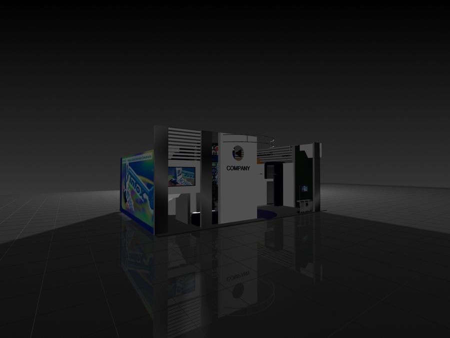 IT Expo 02 royalty-free 3d model - Preview no. 10