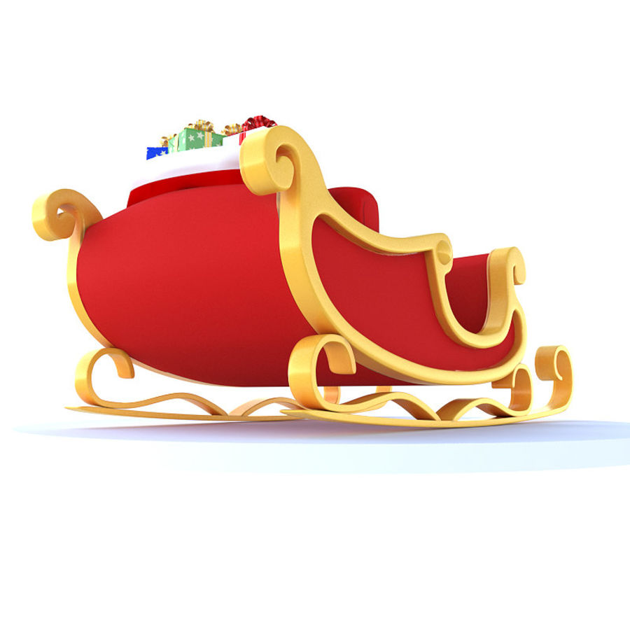 Kerstman slee royalty-free 3d model - Preview no. 7