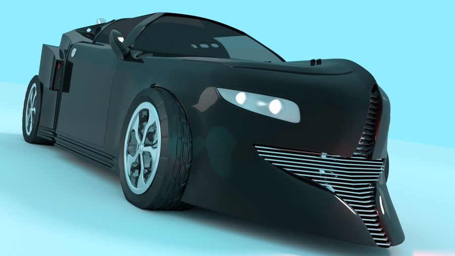 Concept Car royalty-free 3d model - Preview no. 1