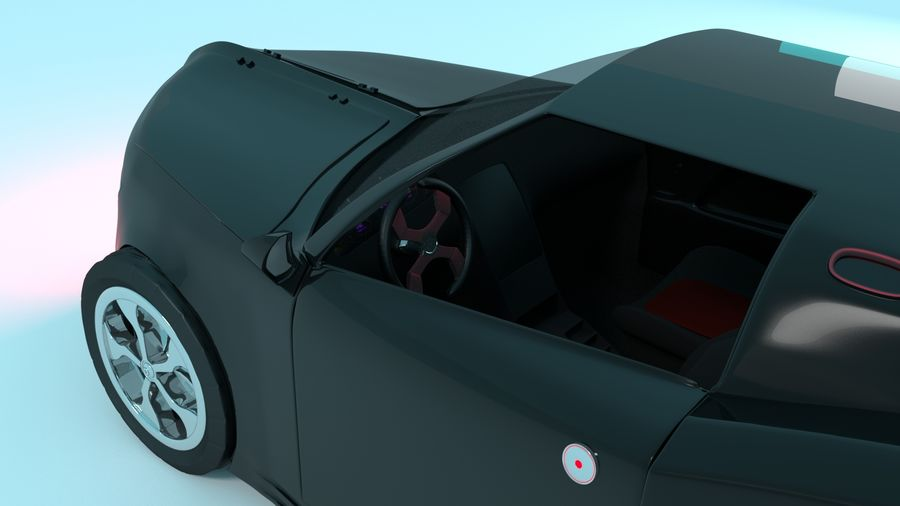 Concept Car royalty-free 3d model - Preview no. 4
