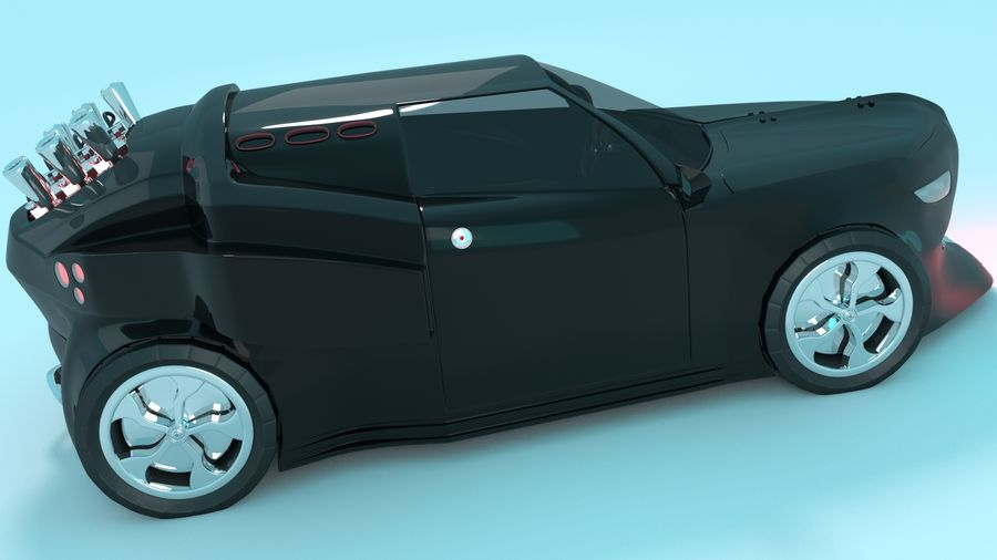 Concept Car royalty-free 3d model - Preview no. 3