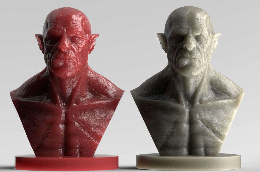 Orc Bust 3D-Druck Modell royalty-free 3d model - Preview no. 5