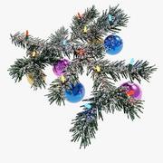 Oddział Boże Narodzenie ze śniegiem 3d model