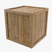 低ポリ木箱3Dモデル 3d model
