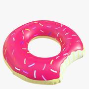 pool toy doughnut 01 3d model