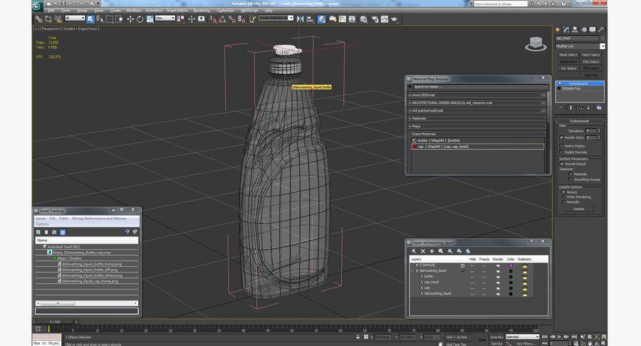 Empty Dishwashing Bottle royalty-free 3d model - Preview no. 14