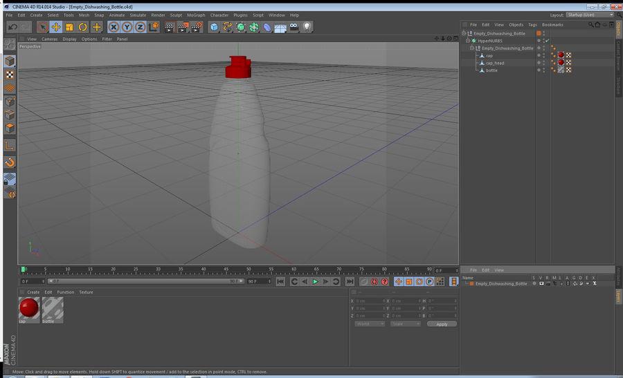 Empty Dishwashing Bottle royalty-free 3d model - Preview no. 13