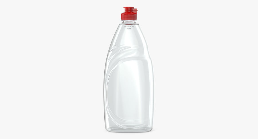 Empty Dishwashing Bottle royalty-free 3d model - Preview no. 2