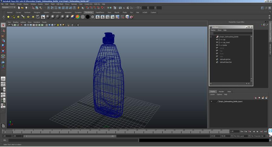 Empty Dishwashing Bottle royalty-free 3d model - Preview no. 12