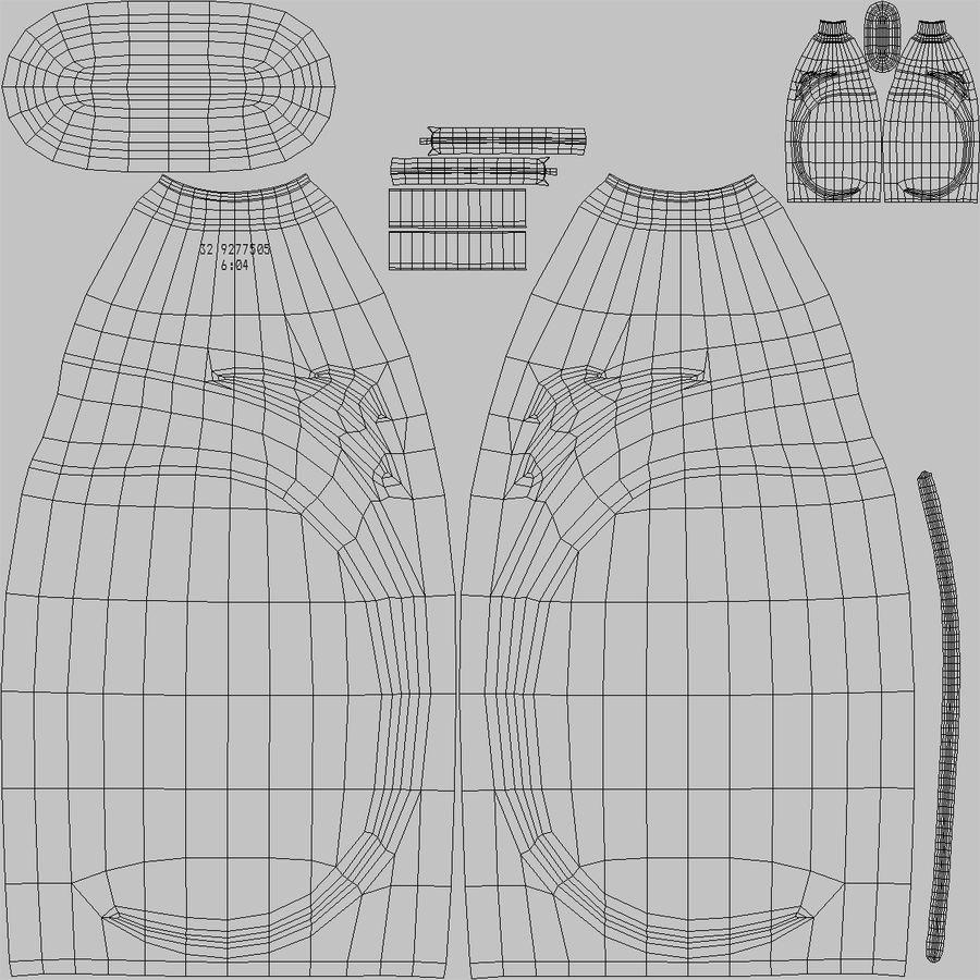 Empty Dishwashing Bottle royalty-free 3d model - Preview no. 15