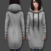 Sukienka z kapturem 3d model