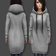 Kapuzen Kleid 3d model