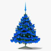蓝色的圣诞树 3d model