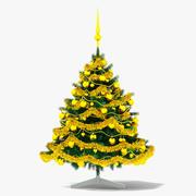 Árvore de Natal dourada 3d model